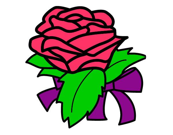 Dibujo de rosa roja pintado por Marinarr en Dibujosnet el da 22