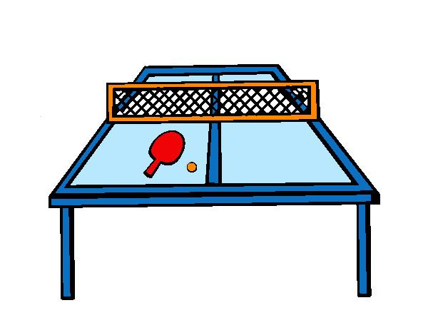 Dibujo de mesa de pingpong pintado por P1a2 en Dibujosnet el da
