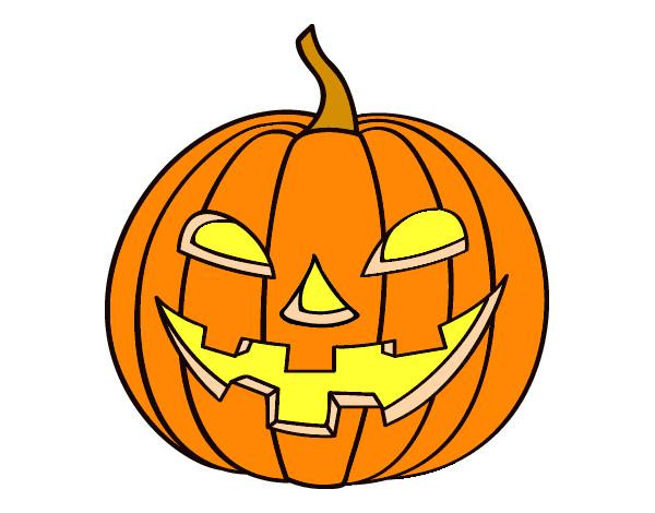 Dibujo de calabasa mala pintado por veruzca en for Calabaza halloween dibujo