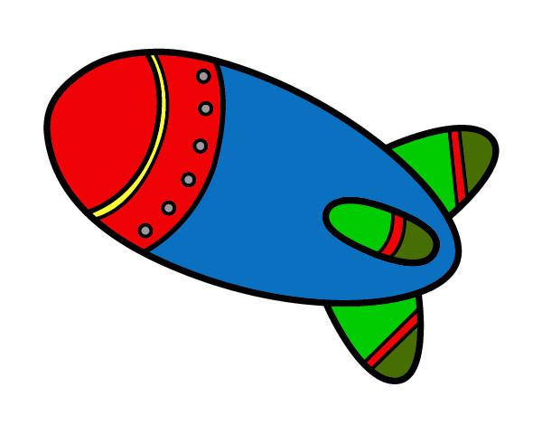 Cohete De Astronauta Y Vintage De Dibujos Animados: Dibujo De Cohete En El Espacio Pintado Por Oscar332 En