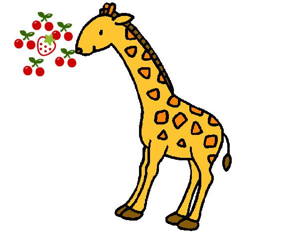 Dibujo de la jirafa 2 pintado por Emoxa7894 en Dibujosnet el da