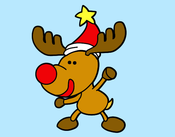 Dibujo de reno feliz pintado por pablosiete en dibujos - Dibujos navidad en color ...