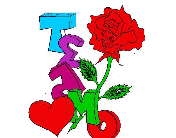 Dibujo de rosa pintado por Krysthel en Dibujosnet el da 111112