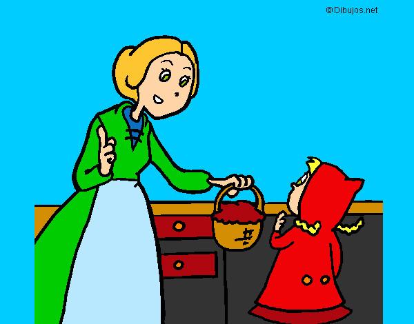 Dibujo de caperusita y su mAMA pintado por Saris247 en ...