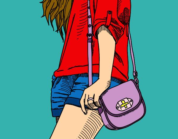 El Pintado Chica De En Con Annyelina Dibujo Por Bolso pf1qI8