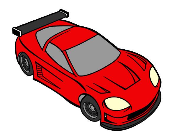 Dibujo de carro moderno pintado por Yarelys en Dibujosnet el da