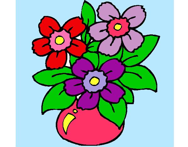 Dibujo de flores bonitas pintado por Floresita2 en Dibujosnet el