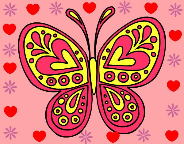 Dibujo de la mariposa linda pintado por Notanloka en Dibujos.net ...