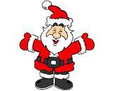 Dibujo Papa Noel feliz pintado por lorenaag