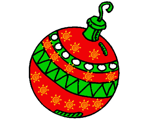 Dibujo de bolita pintado por nicky20 en el d a for Dibujo bola navidad