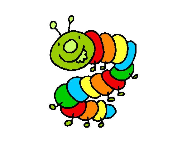 Dibujo de ciempi s pintado por badinu en el - Dibujos infantiles para imprimir pintados ...