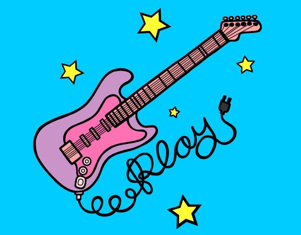 Dibujo de estrella de rock pintado por Skarled en Dibujosnet el