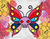 Dibujo Mariposa Emo pintado por yenife123