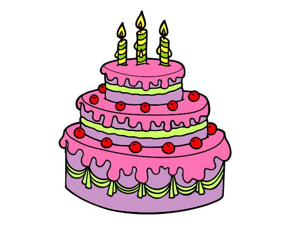 Dibujo de Mi torta de cumpleaños pintado por Yevime en ...