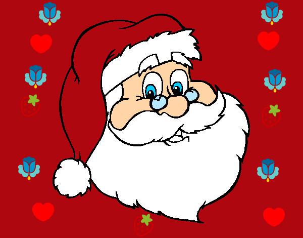 Dibujo de santa clos pintado por danielarce en dibujos for Dibujos de navidad pintados