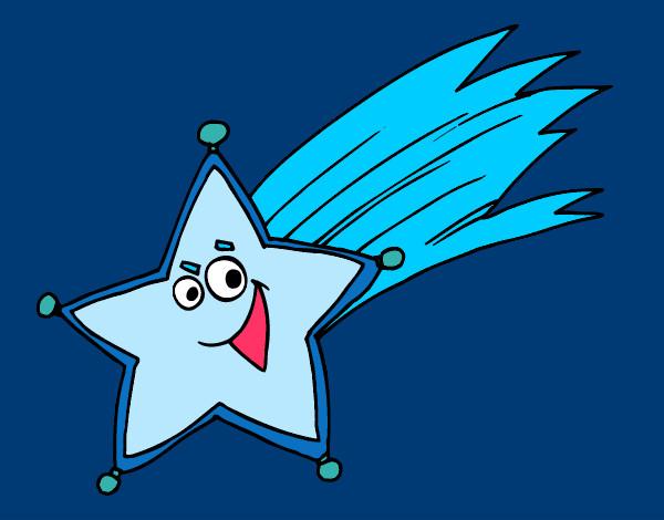 Dibujo de estrella fugaz pintado por queyla en for Estrella fugaz navidad
