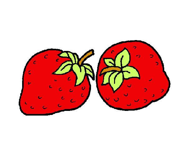 Dibujo de fresas pintado por Popet20 en Dibujosnet el da 0212