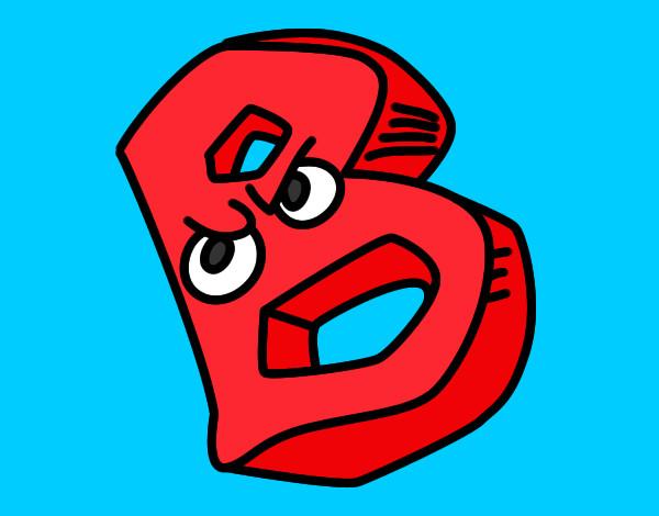 Dibujo de Letra B pintado por Bombastika en Dibujosnet el da 28
