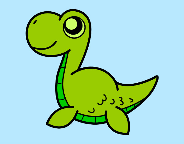 Dibujos Animados De Color Verde: Dibujo De Dinosanti Pintado Por Julareina En Dibujos.net