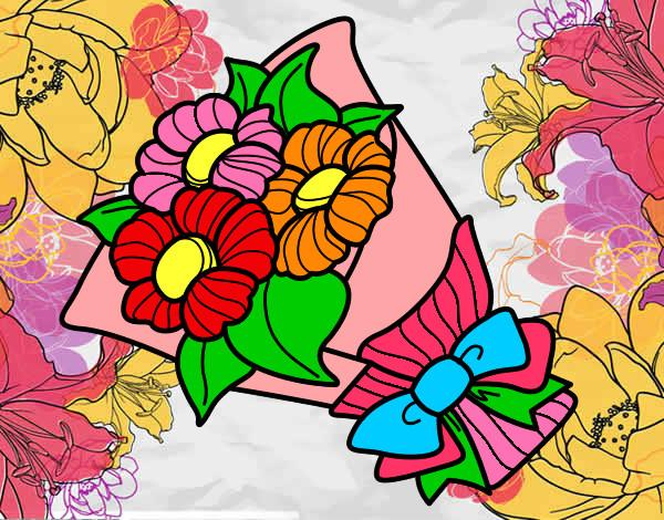 Dibujo de las flores de colores pintado por Nickname17 en Dibujos