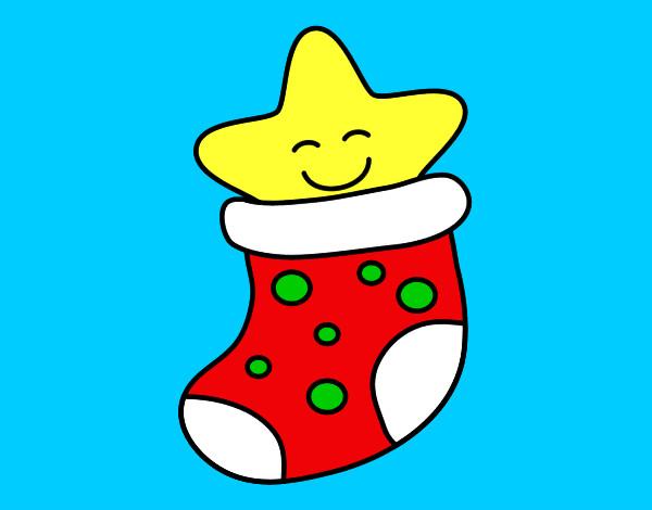 Dibujo de calcet n de navidad pintado por carmen mg en - Calcetin de navidad ...