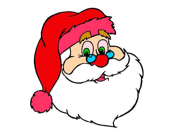 Cara De Papa Noel Para Colorear. Perfect Dibujos ...