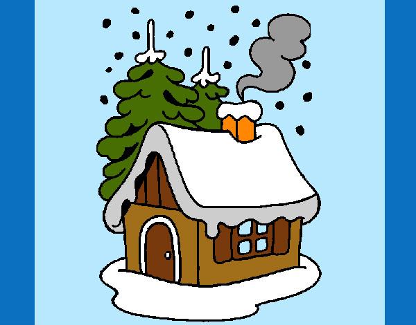 Dibujo de navidad pintado por marce182 en el - La casa de la navidad ...