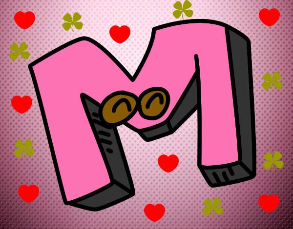 Dibujo de mi inicial pintado por Joelmary en Dibujos.net el día 04-12