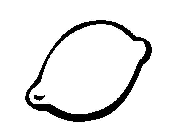Dibujo de limón sin pintar pintado por Marializ en Dibujos.net el ...