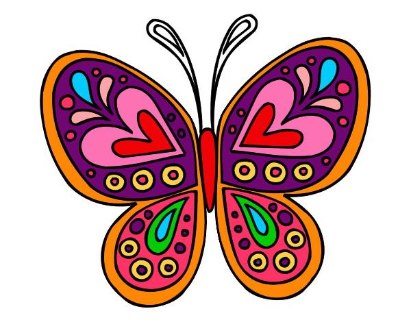 Dibujo de mariposa pintado por bia2000 en el - Imagenes de mariposas de colores ...