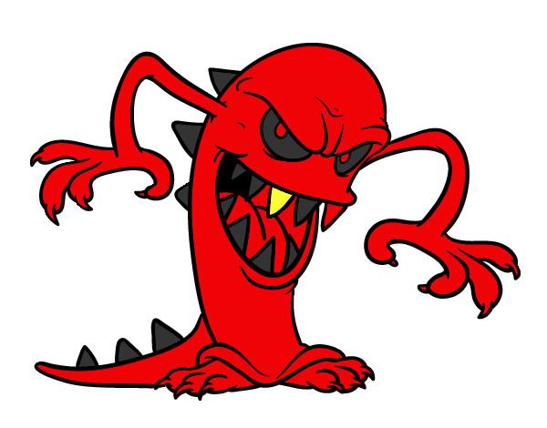 dibujo de monstruo malvado pintado por stoney en dibujos net el día