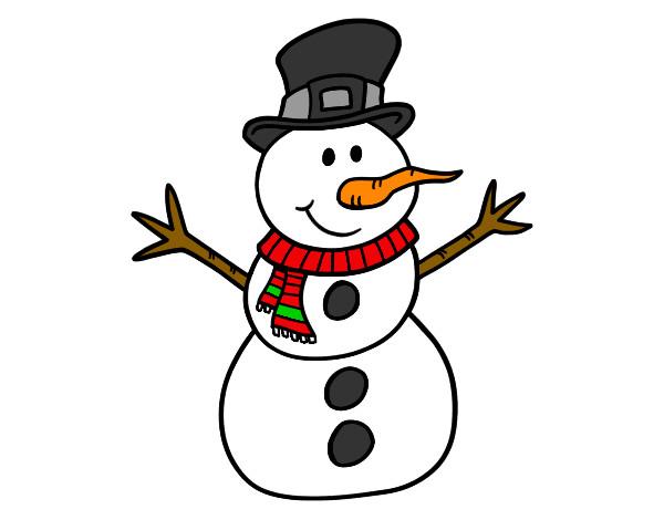 Dibujo de muñeco de nieve pintado por Juliet 09 en Dibujos