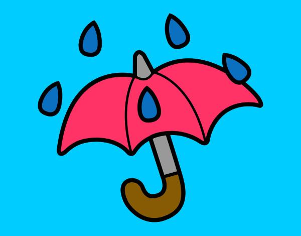 Dibujos De Paraguas Para Colorear E Imprimir: Dibujo De Paraguas Pintado Por Alexa1009 En Dibujos.net El