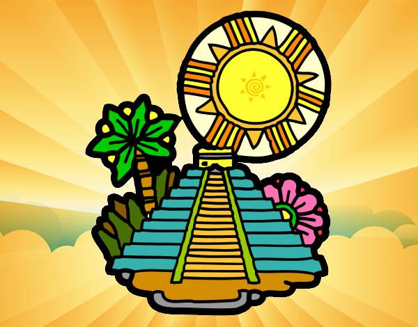 Dibujo de templo del sol pintado por Fidel01 en Dibujos