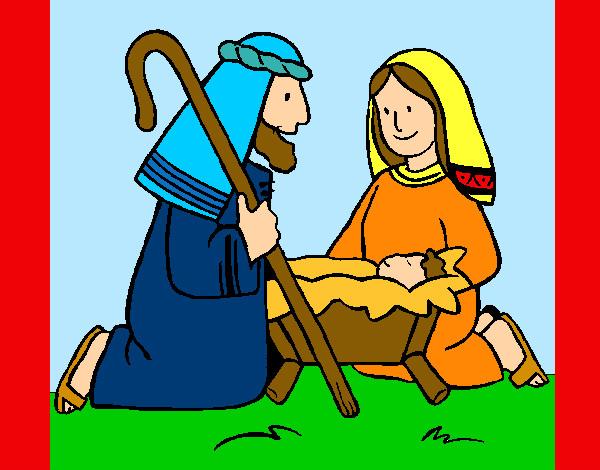Dibujo de la familia en beln pintado por Cata888 en Dibujosnet