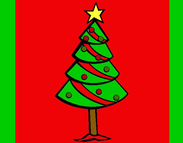 Dibujo de arbol de navidad pintado por tomzayli en dibujos for Dibujos de navidad pintados