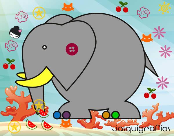 Dibujo Para Colorear Del Elefante Dumbo De La Película De: Dibujo De Dumbo Pintado Por Santi5 En Dibujos.net El Día