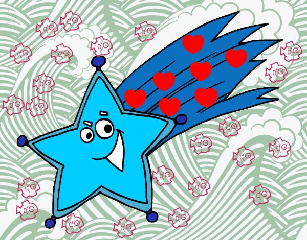 Dibujo de michel117 pintado por mich117 en el for Estrella fugaz navidad
