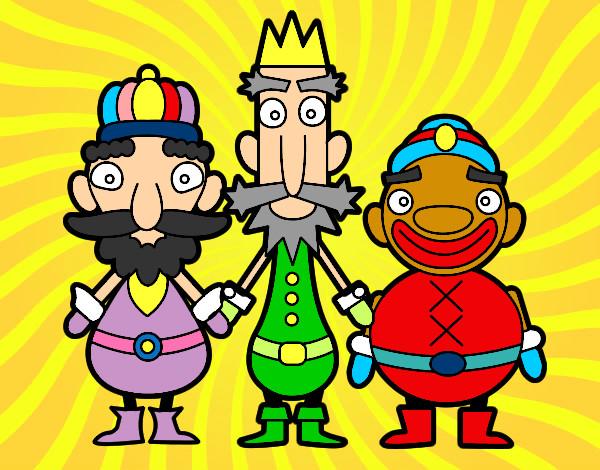 Dibujo de Los Reyes Magos de Oriente pintado por Guiliana en ...