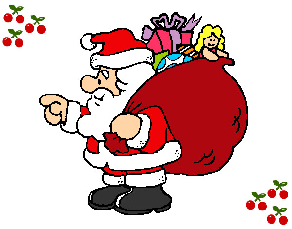 Dibujos de navidad de papa noel