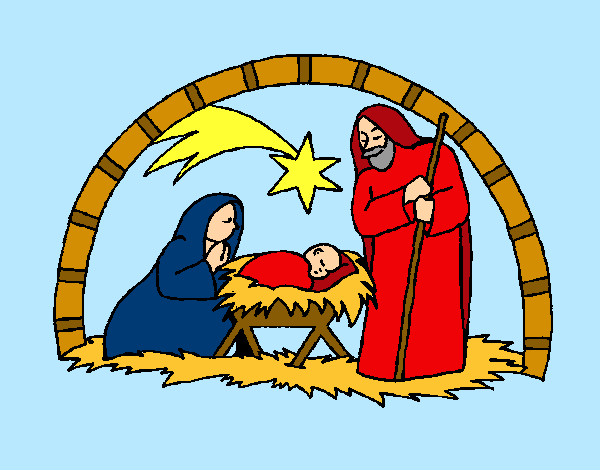 Dibujo de pesebre de navidad pintado por danneliese en for Dibujos de navidad pintados