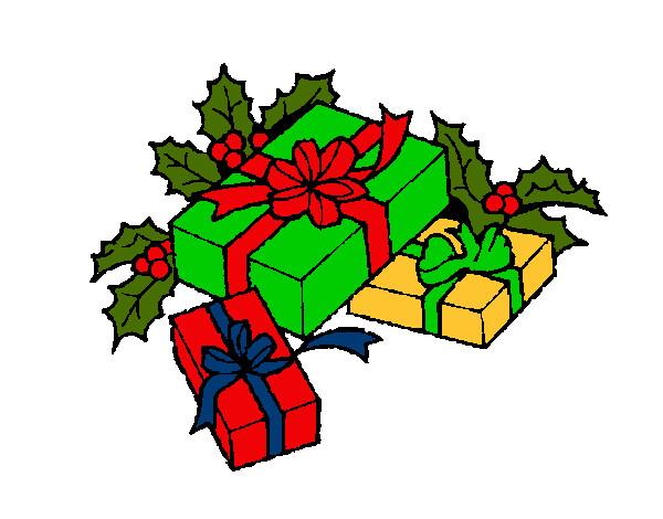 Dibujo de regalos pintado por carito27 en el for Dibujos de navidad pintados