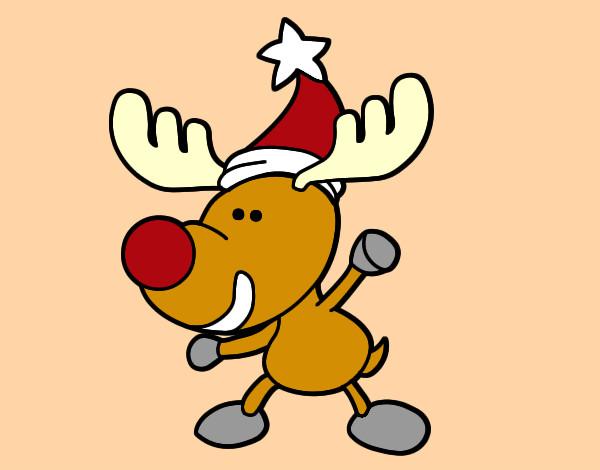 Dibujo de reno peque o pintado por emaema en for Dibujos de renos en navidad