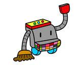 Dibujo Robot de limpieza pintado por lucascutie