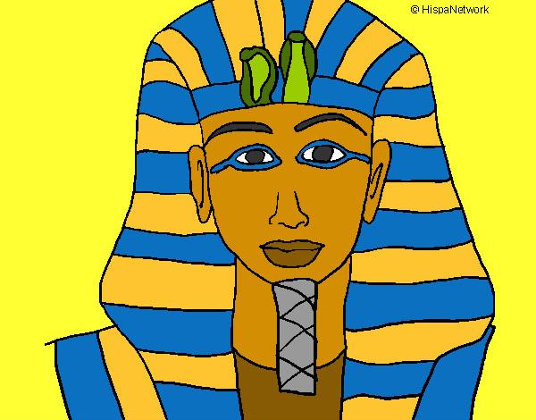 Dibujo de Tutankamon pintado por Federicci en Dibujosnet el da