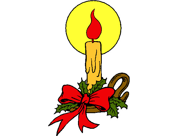 Dibujos De Velas De Navidad Para Colorear: Dibujo De Vela De Navidad 3 Pintado Por Carito27 En