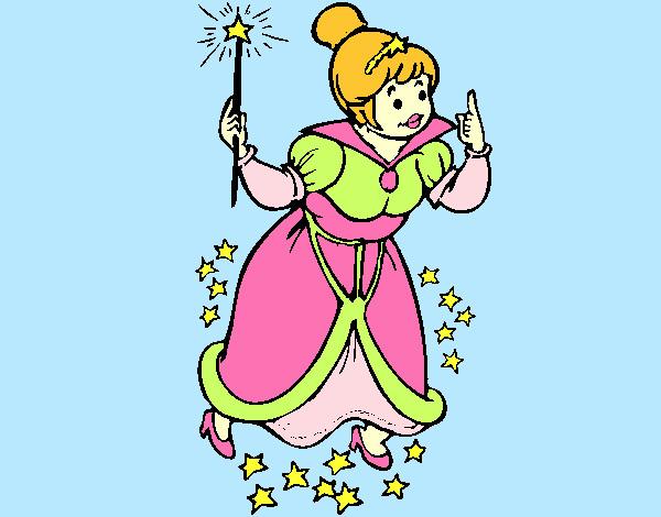 Worksheet. Dibujo de Hada madrina pintado por Sweetlips en Dibujosnet el da