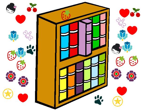 Dibujo de la estanteria del color pintado por belene en - Dibujos de estanterias ...