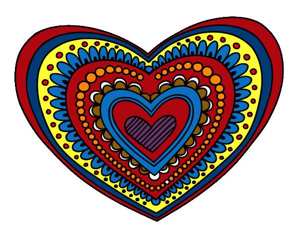 Dibujos De Corazones Coloridos: Dibujo De Mi Corazon Pintado Por Pudin En Dibujos.net El