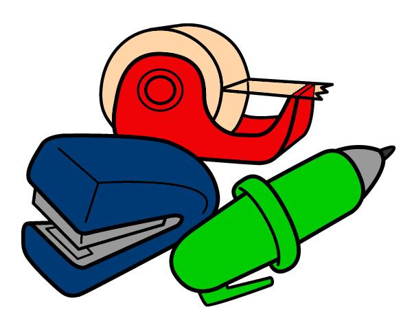 Dibujo de utiles escolares pintado por Pudin en Dibujos.net el día ...